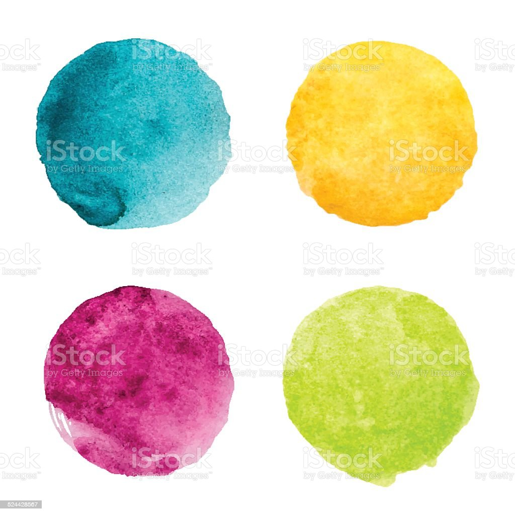 Hand drawn abstract colorful circle shapes. vector art illustration