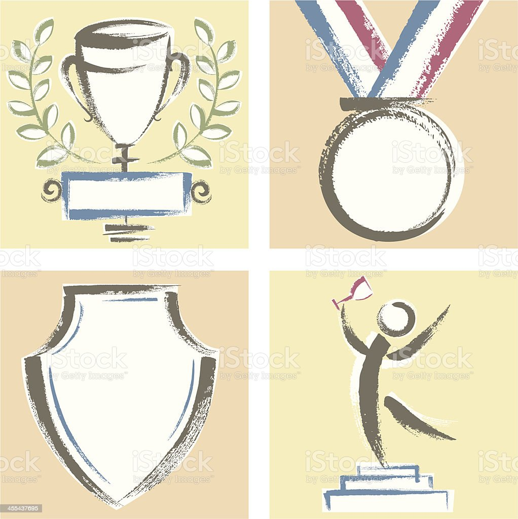 Hand Drawn Awards Collection royalty-free stock vector art