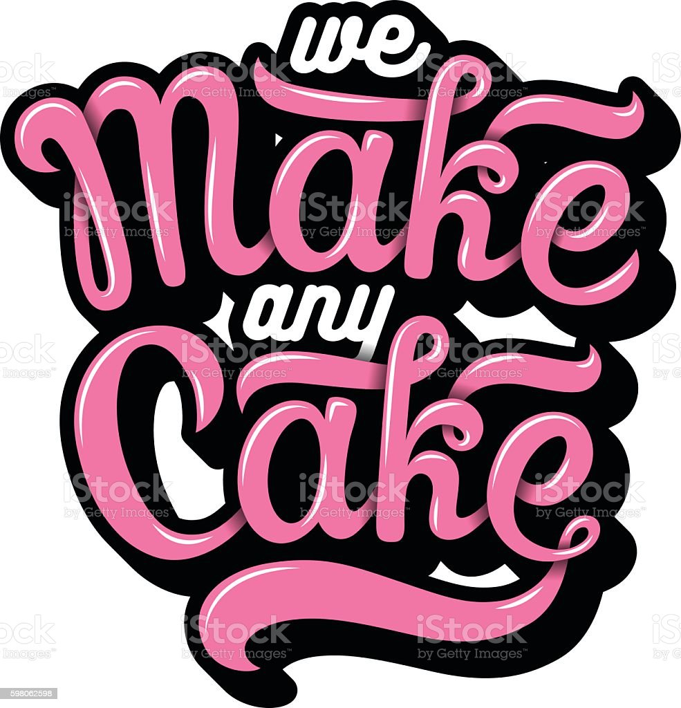 Hand drawn bakery lettering vector art illustration