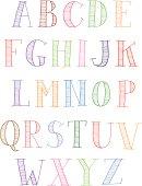 Hand drawn capitals
