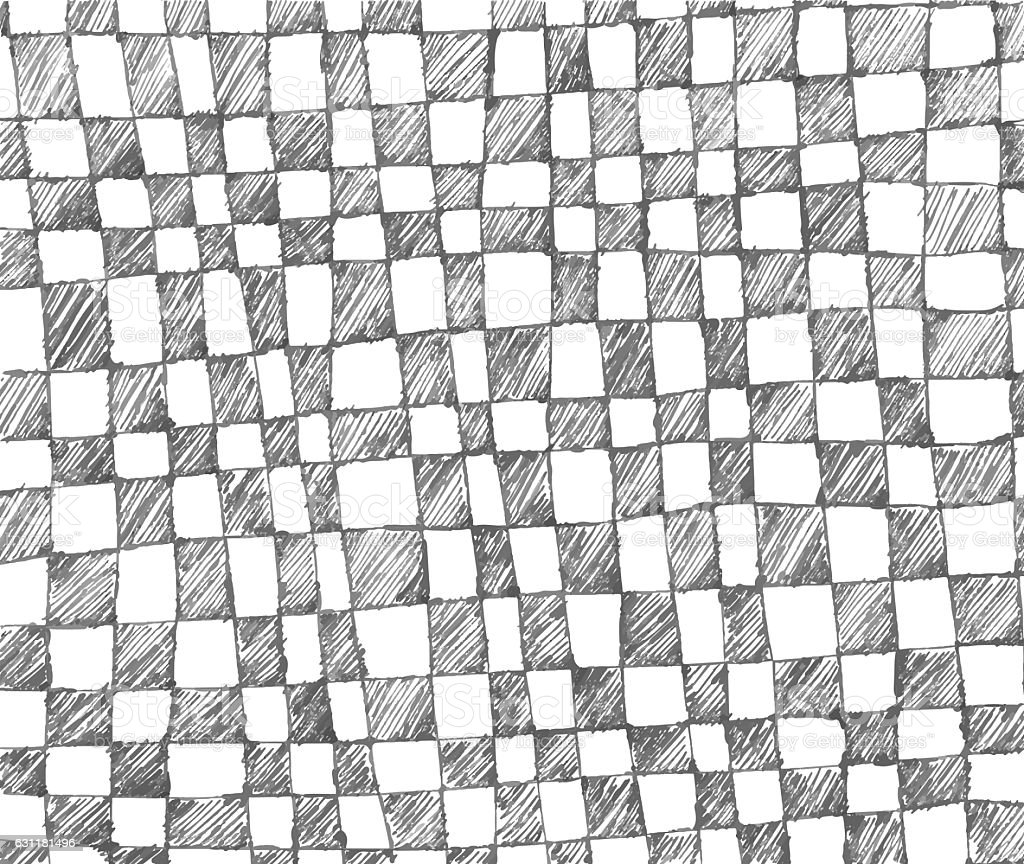 Checkered Design Hand Drawn Checkered Pattern Stock Vector Art 631181496 Istock