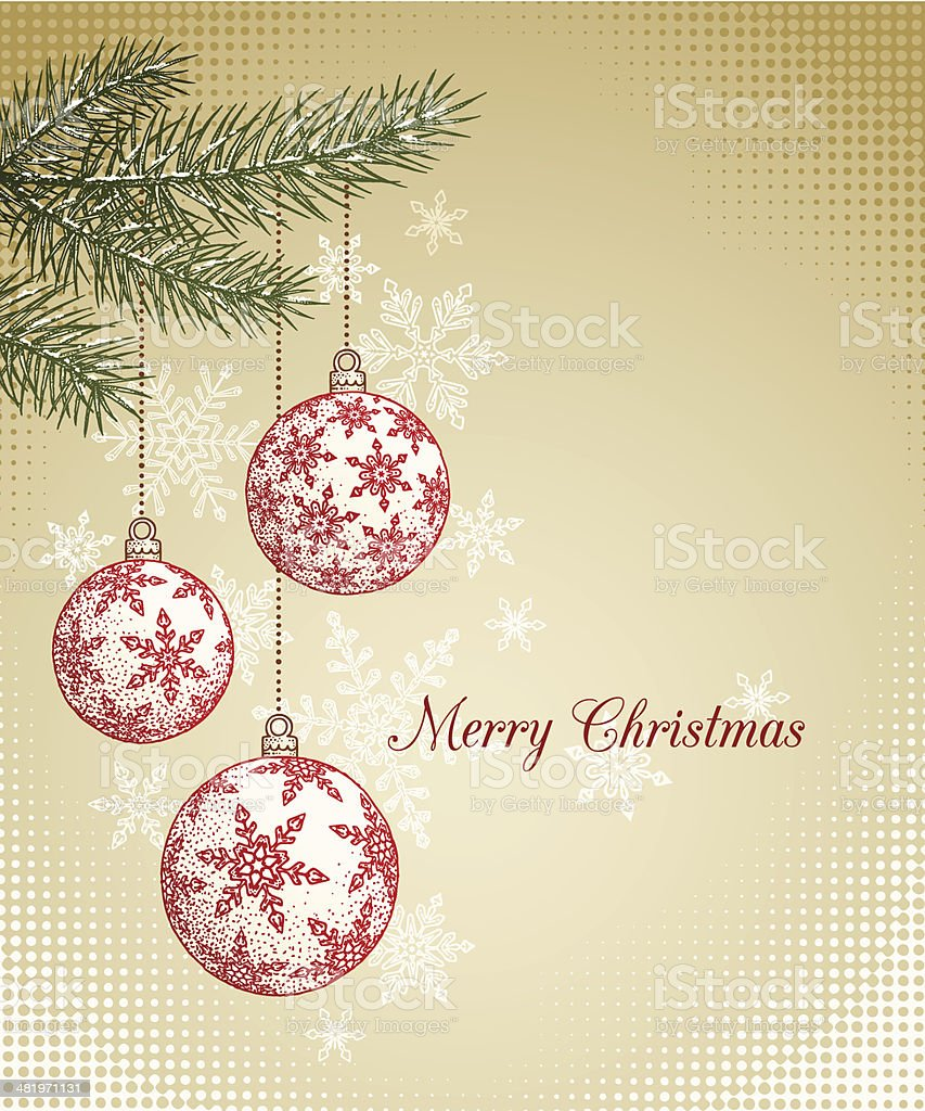 Hand Drawn Christmas Background royalty-free stock vector art