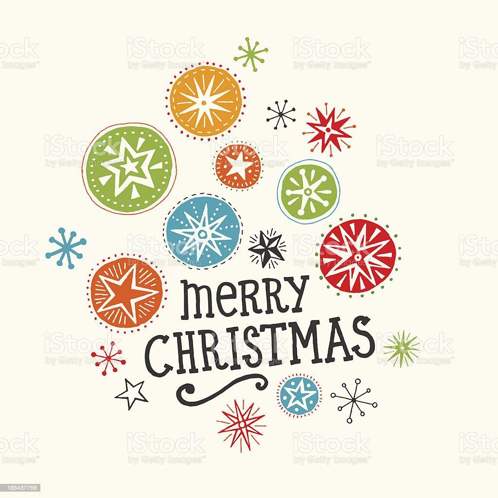Hand Drawn Christmas Card royalty-free stock vector art