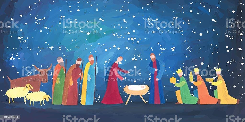 Hand drawn Christmas illustration vector art illustration