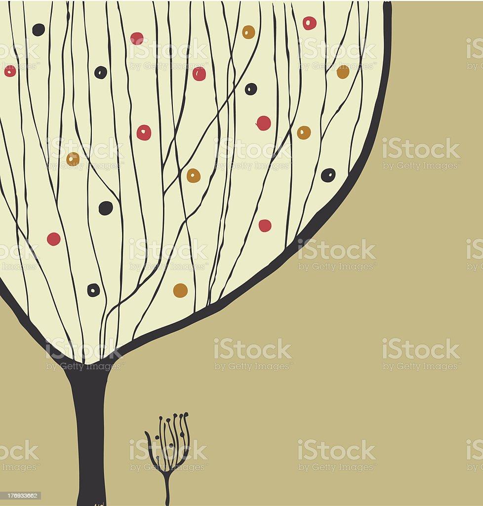 Hand drawn decorative tree royalty-free stock vector art