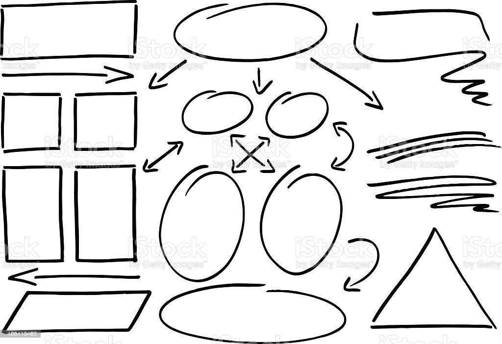 hand drawn design infographic elements vector art illustration