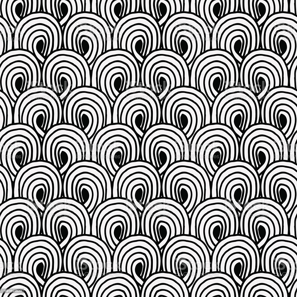 Hand drawn doodle pattern vector art illustration