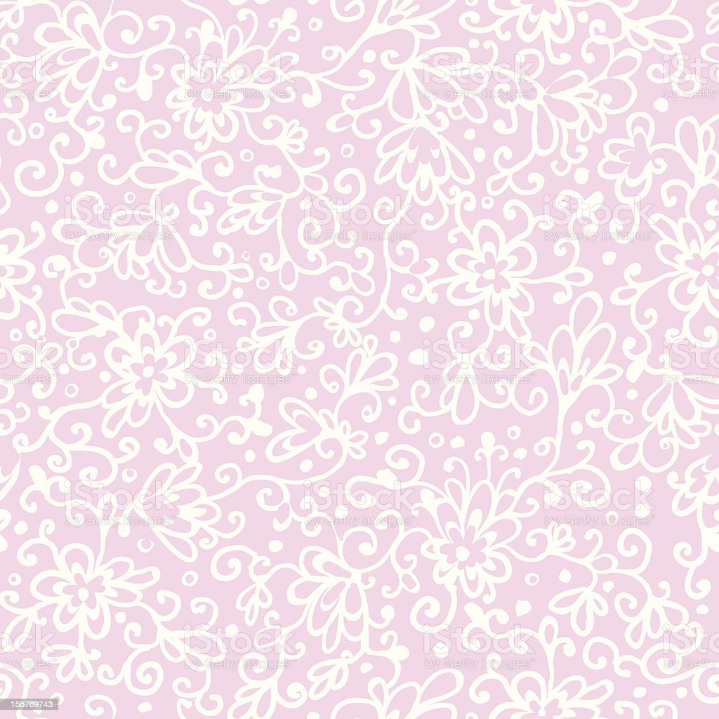 Hand drawn floral seamless pattern royalty-free stock vector art