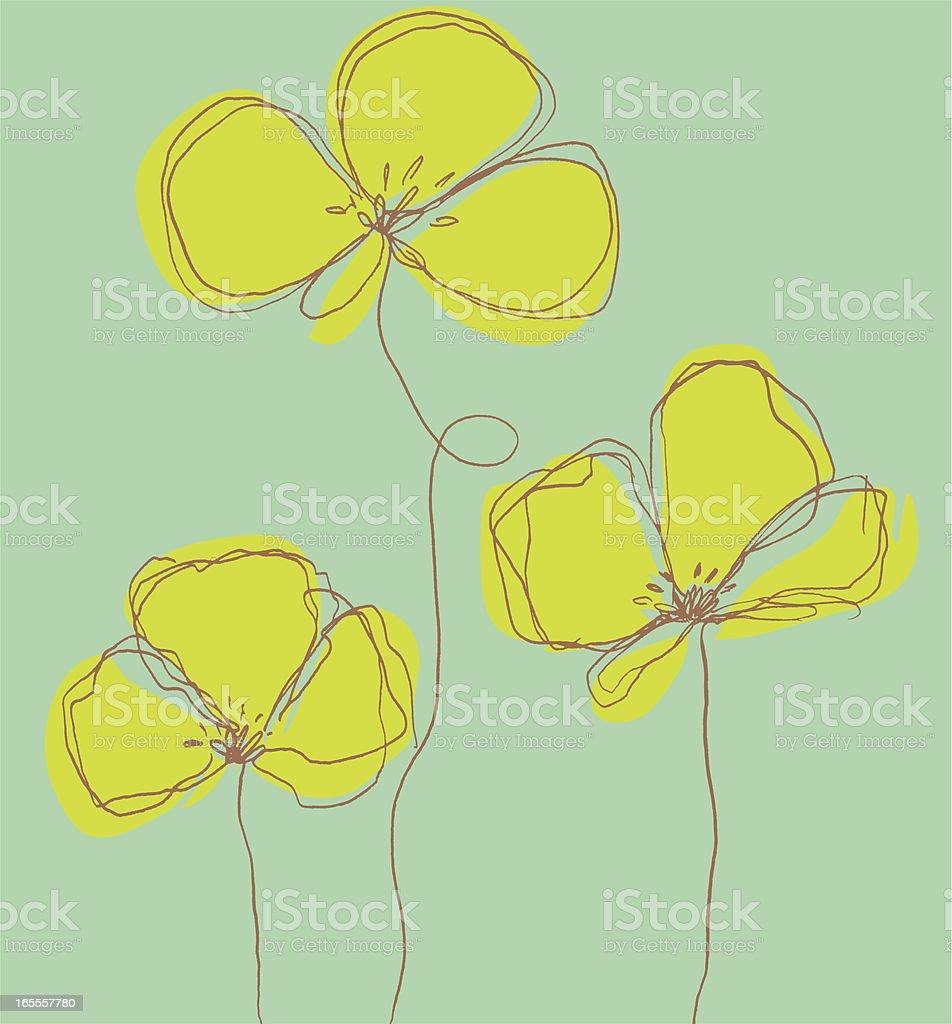 Hand Drawn Flower royalty-free stock vector art
