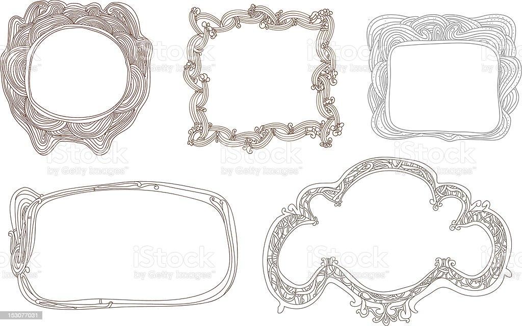 Hand Drawn Frames royalty-free stock vector art