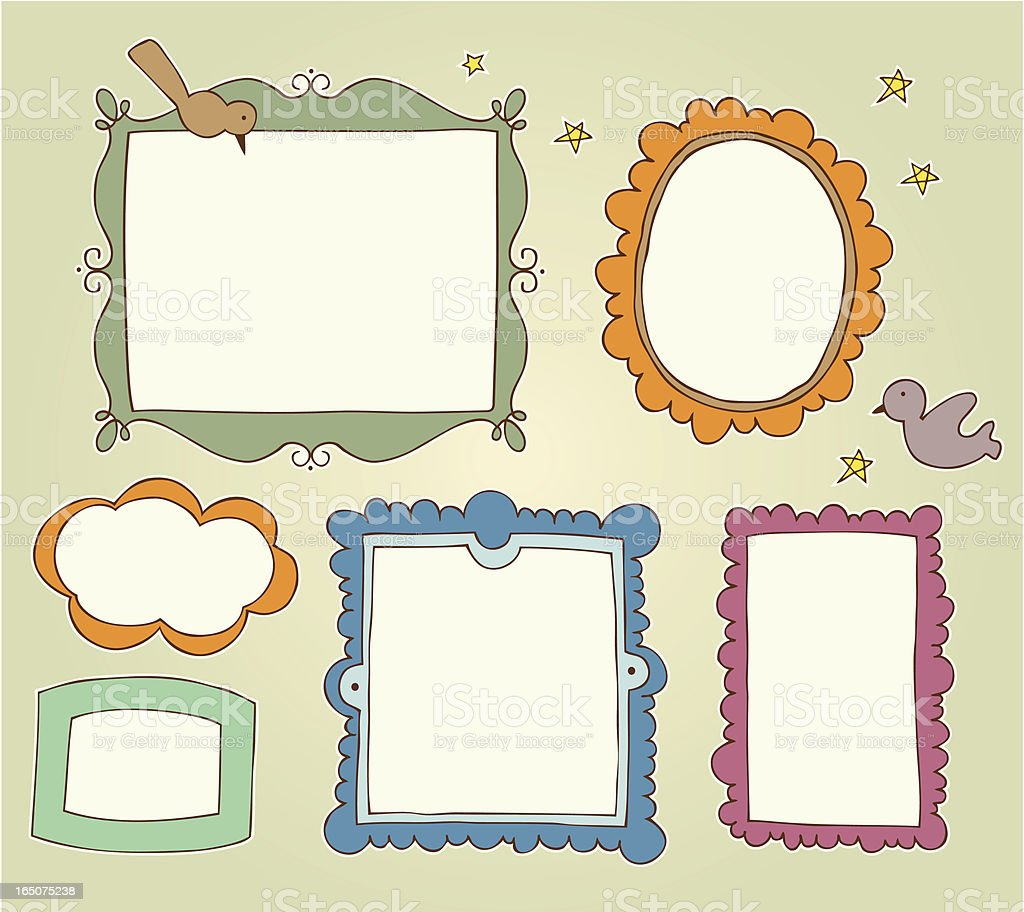 Hand drawn frames royalty-free stock vector art
