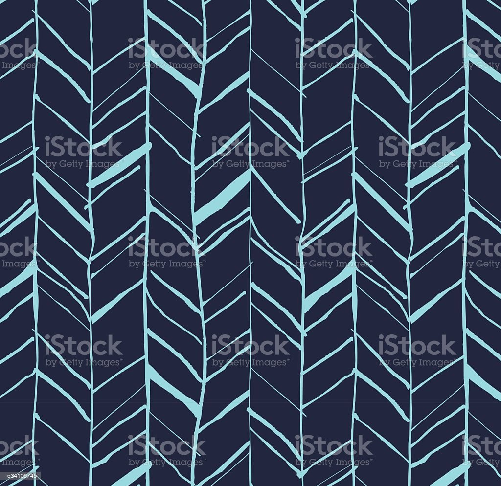 Hand drawn herringbone pattern vector art illustration