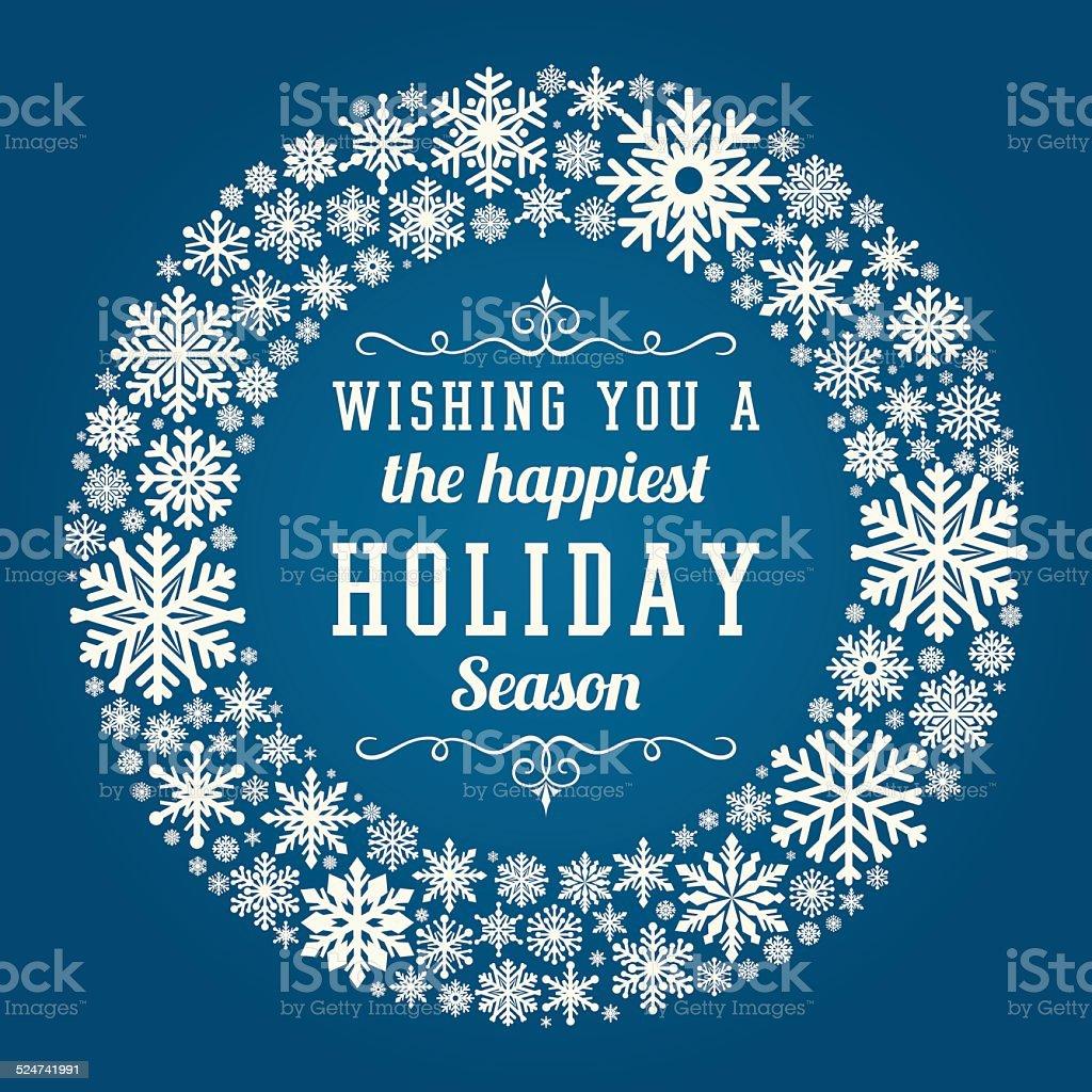 Hand Drawn Holiday Card vector art illustration