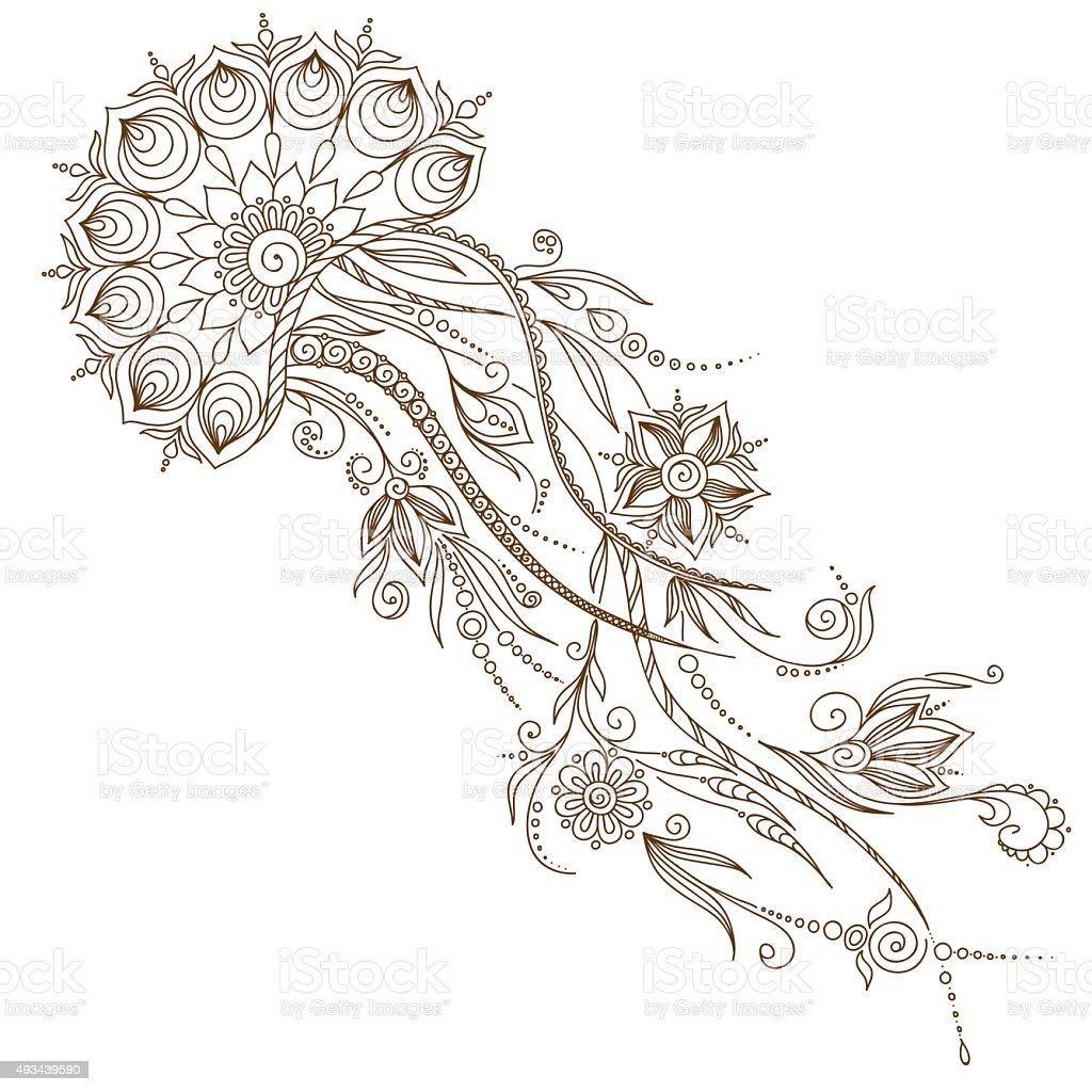 Hand drawn jellyfish. Vector illustration. vector art illustration