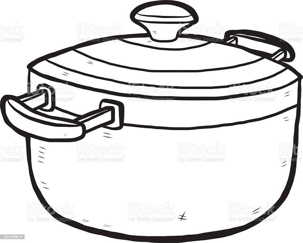 Hand Drawn Kitchen Pot stock vector art 524153819 iStock