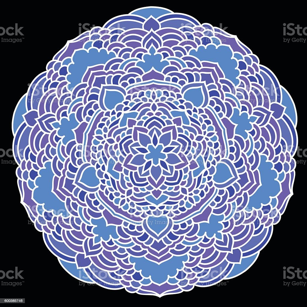 Hand drawn lace ethnic abstract mural mandala background vector art illustration