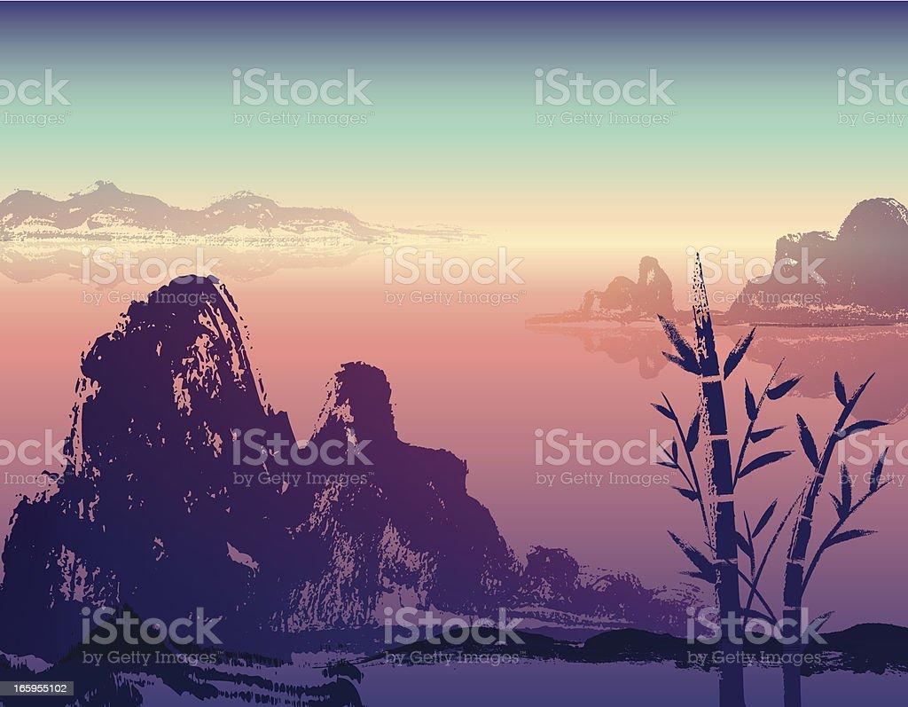 Hand Drawn Landscape royalty-free stock vector art