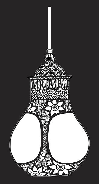 Drawing Of A Arabian Lanterns Clip Art, Vector Images ...