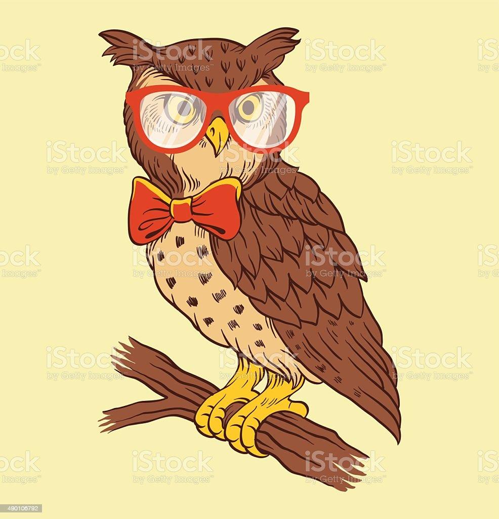 Hand drawn owl vector illustration vector art illustration