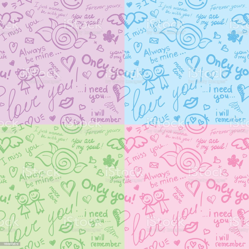 hand drawn patterns, vector eps 10 royalty-free stock vector art