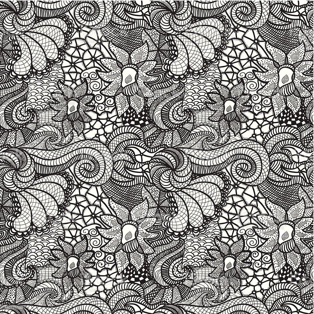 Hand drawn seamless pattern royalty-free stock vector art