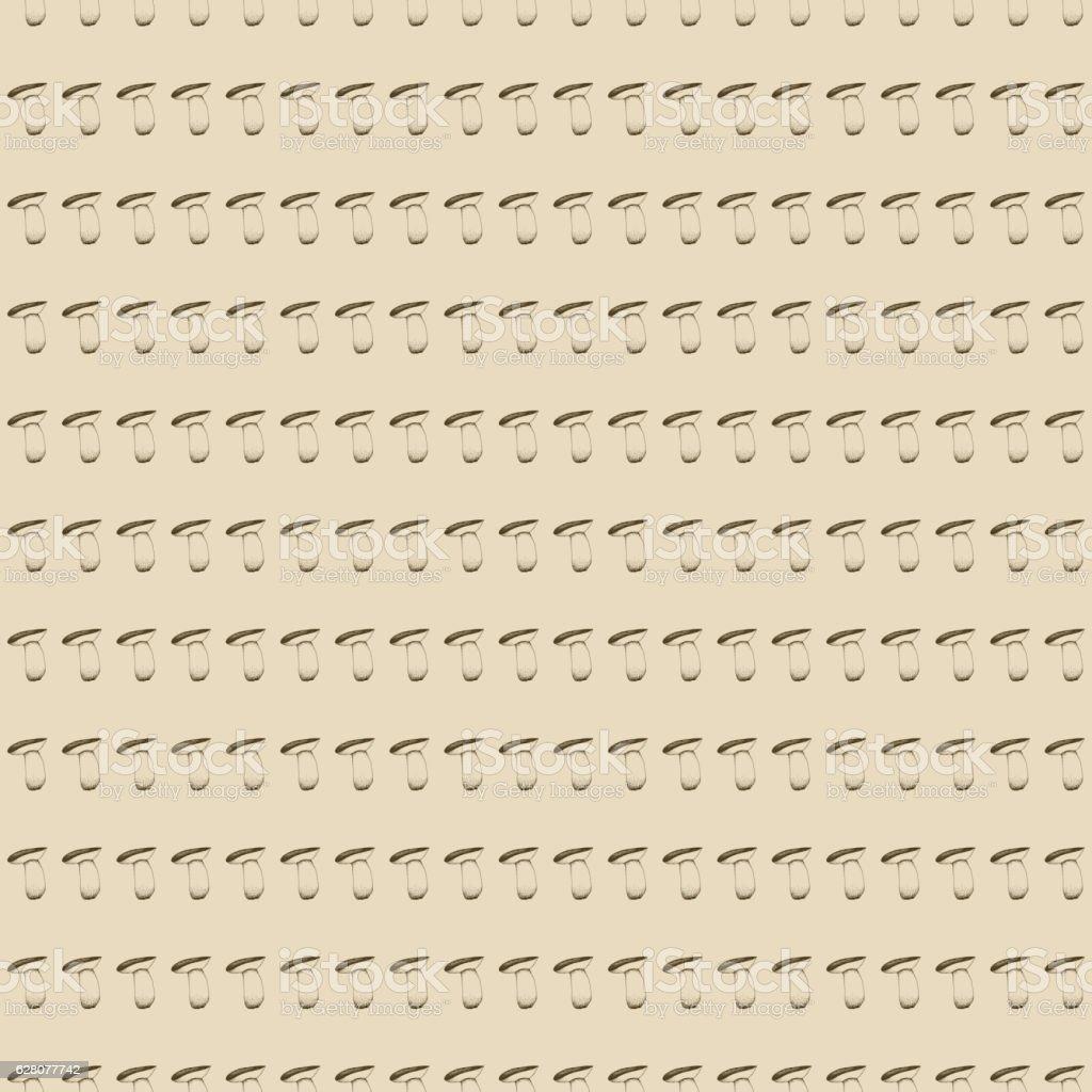 Hand drawn seamless pattern with mushrooms. vector art illustration