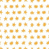 Hand Drawn Stars Modern Seamless Pattern Background