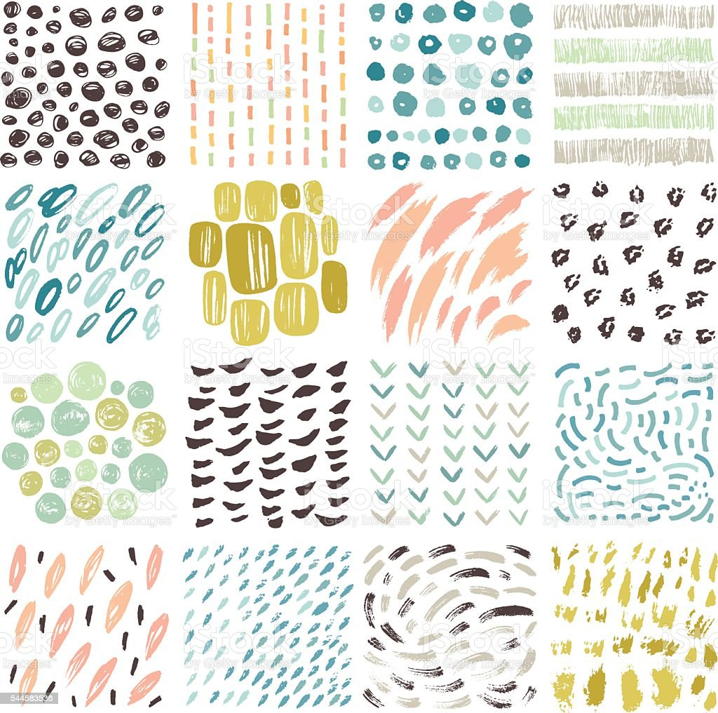 Hand Drawn Textures vector art illustration