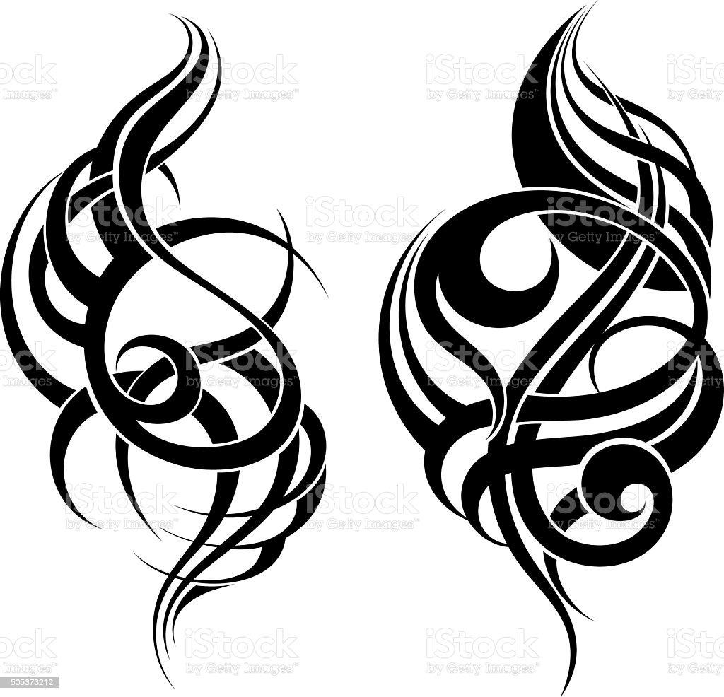 Hand Drawn Tribal Tattoo vector art illustration