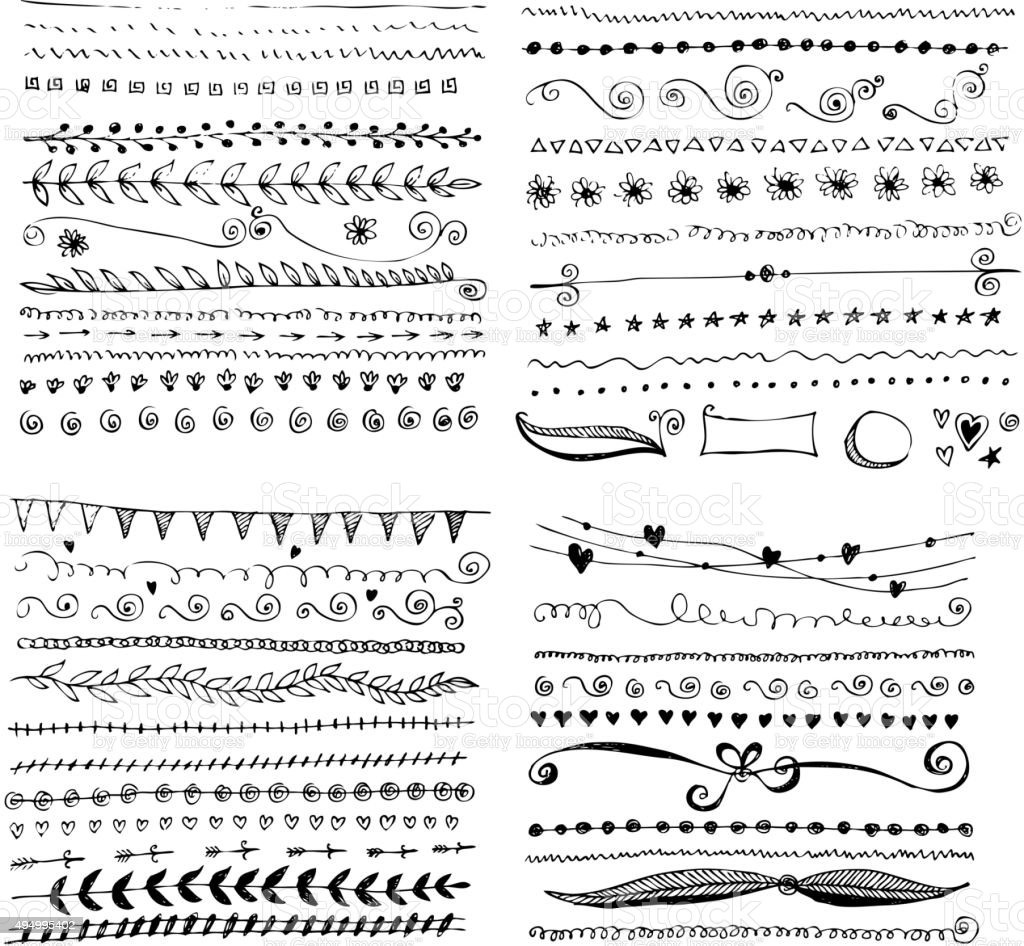 Hand drawn vector design elements vector art illustration