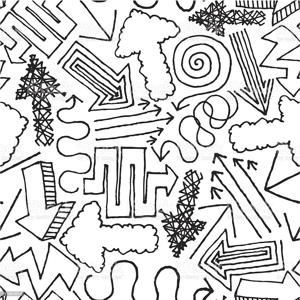 Hand drawn vector seamless Pattern / Background royalty-free stock vector art