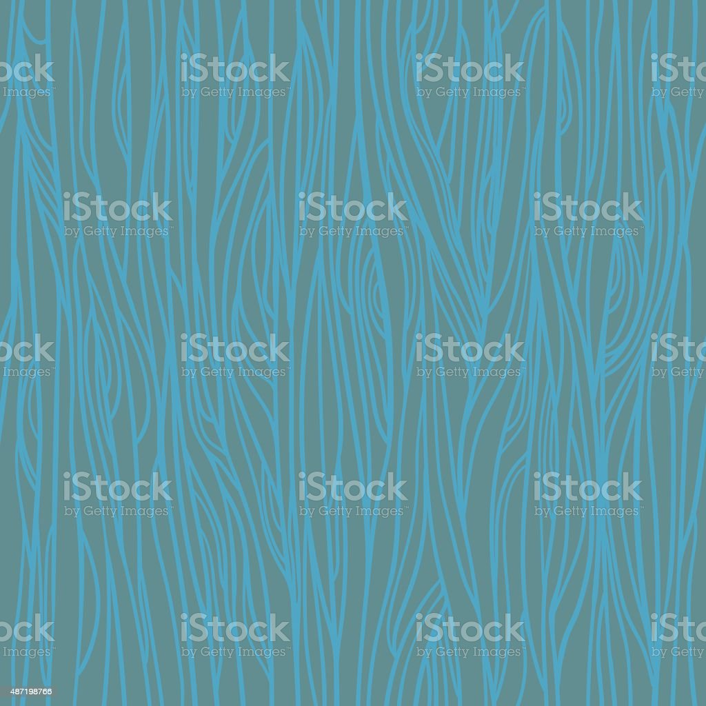 Hand drawn vector seamless pattern - Wood texture vector art illustration