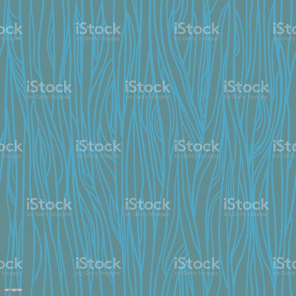 Hand drawn vector seamless pattern - Wood texture vector art illustration