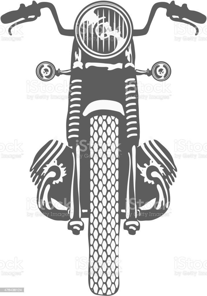 Hand Drawn Vintage Motor Bike Vector Stock Vector Art