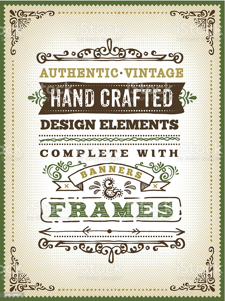 Hand Drawn Vintage Poster vector art illustration