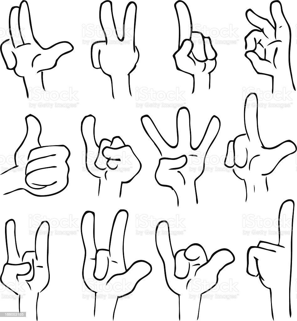Hand Figures royalty-free stock vector art