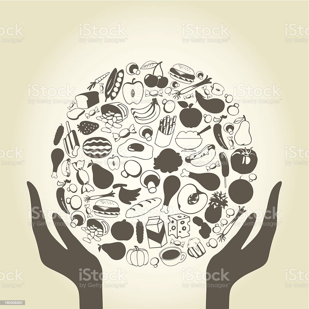 Hand food royalty-free stock vector art