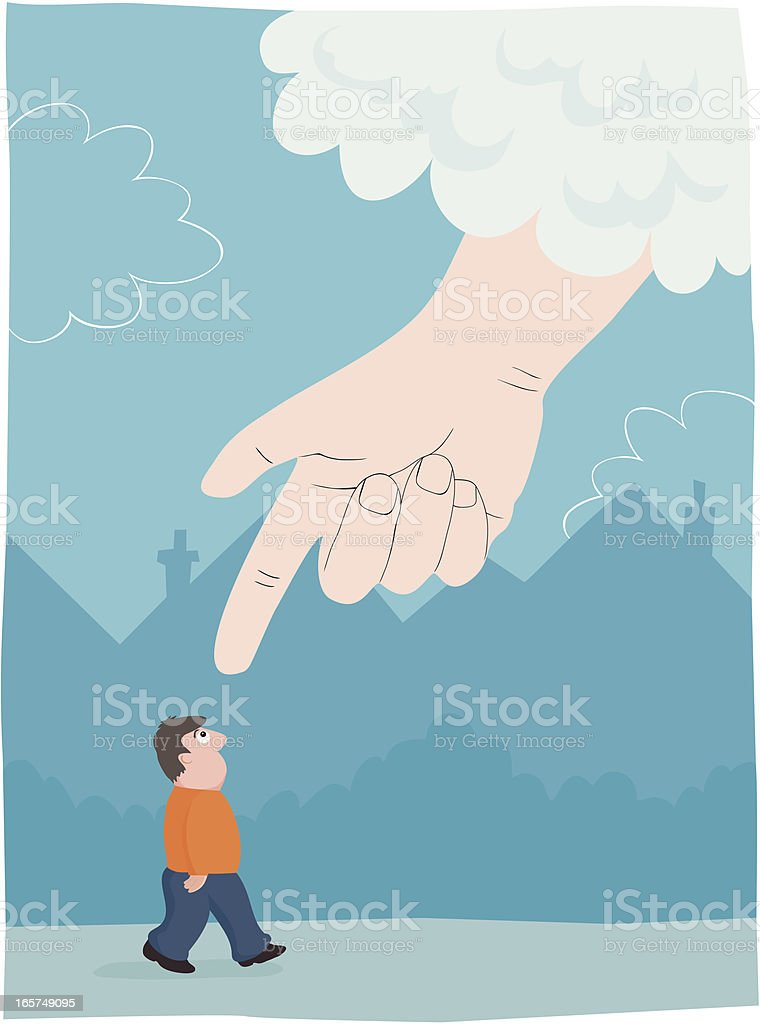 Hand from Above royalty-free stock vector art