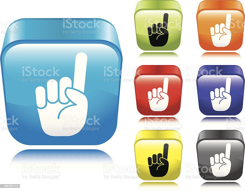 Hand Gesture Icon royalty-free stock vector art