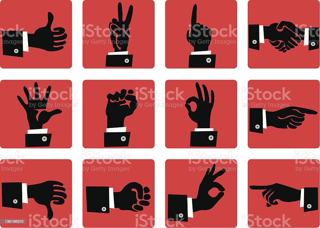 Hand gesture icons royalty-free stock vector art