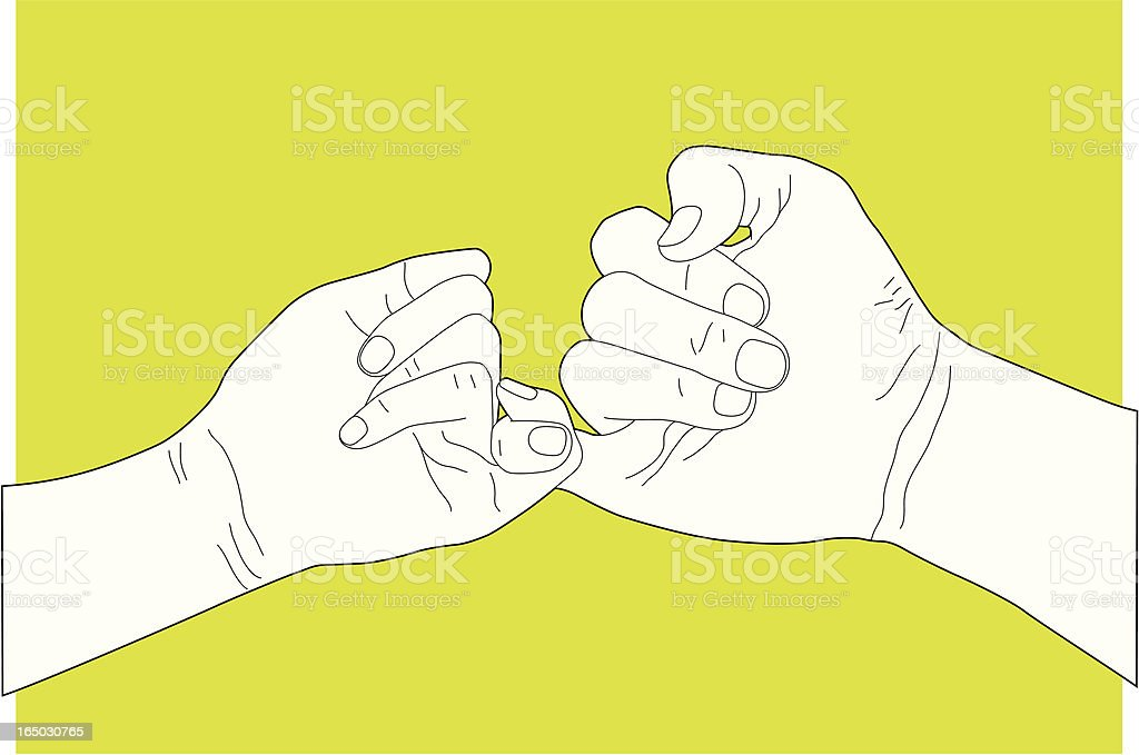 Hand Gesture Making Promise royalty-free stock vector art