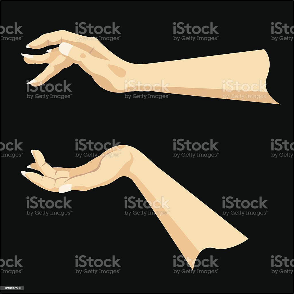 Hand Gesture vector art illustration