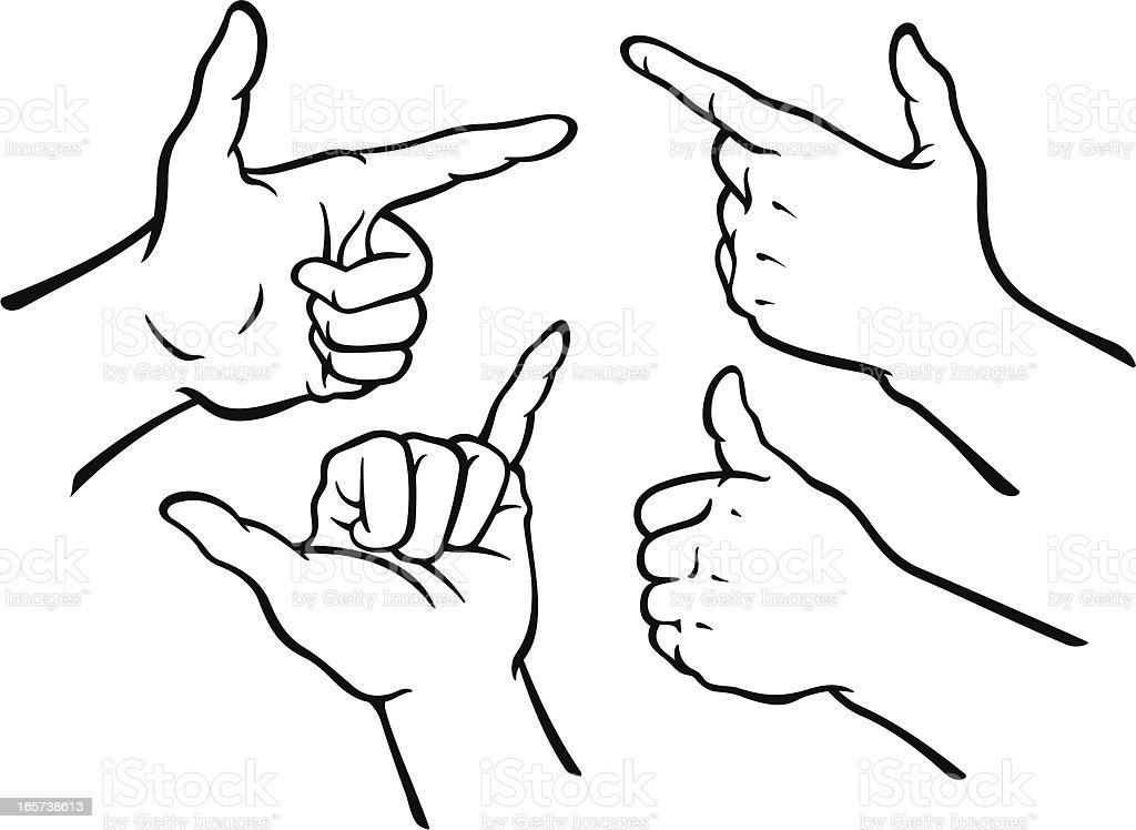 Hand Gestures Set royalty-free stock vector art