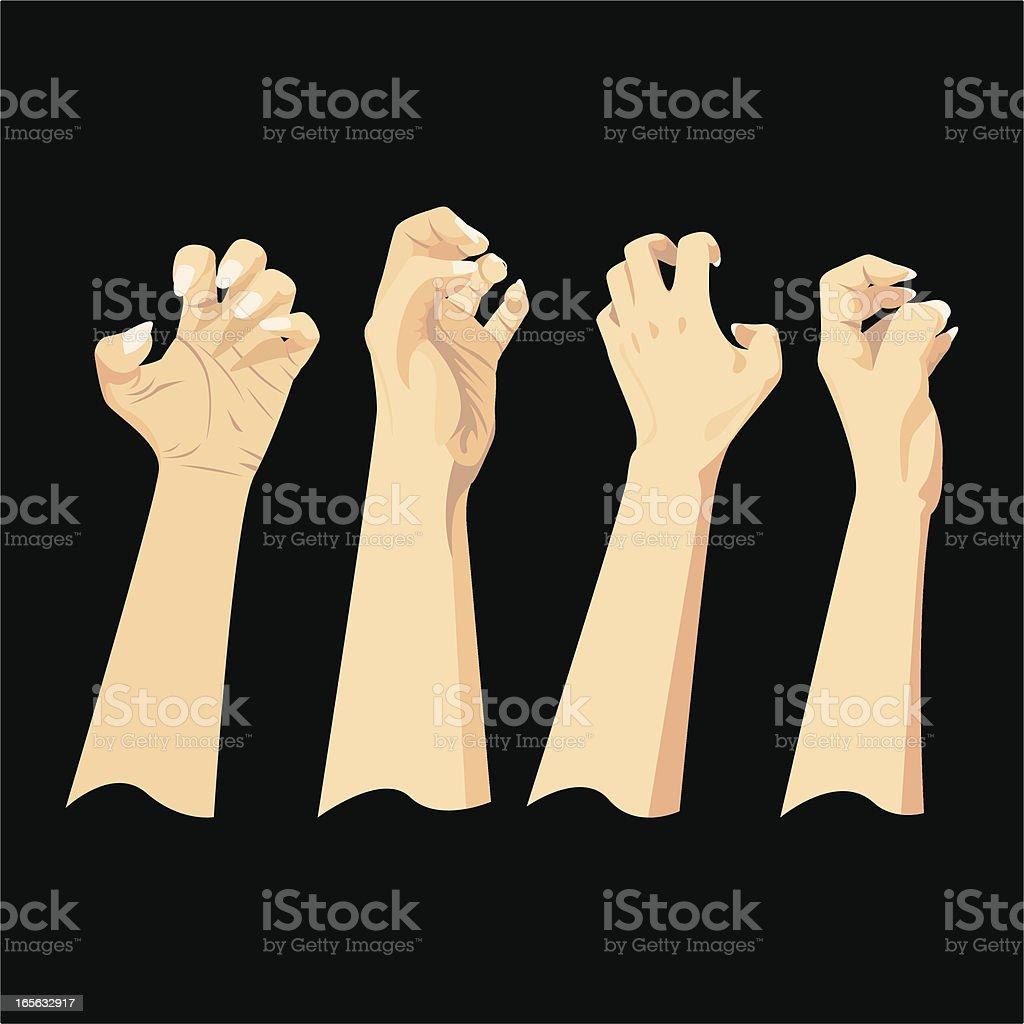 Hand Gestures royalty-free stock vector art