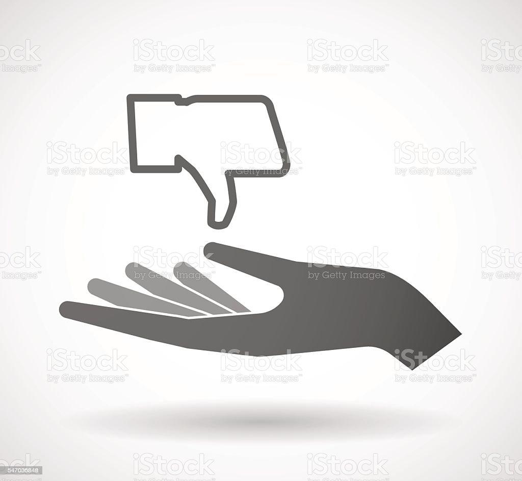 Hand giving a thumb hand vector art illustration