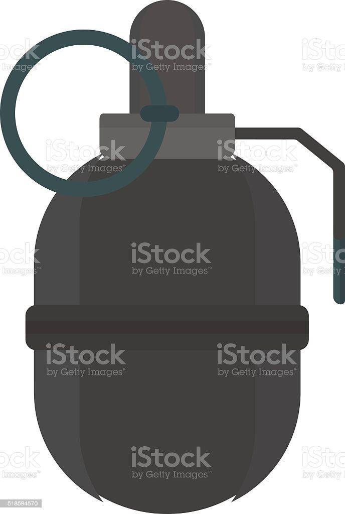 Hand grenade bomb explosion weapons vector vector art illustration