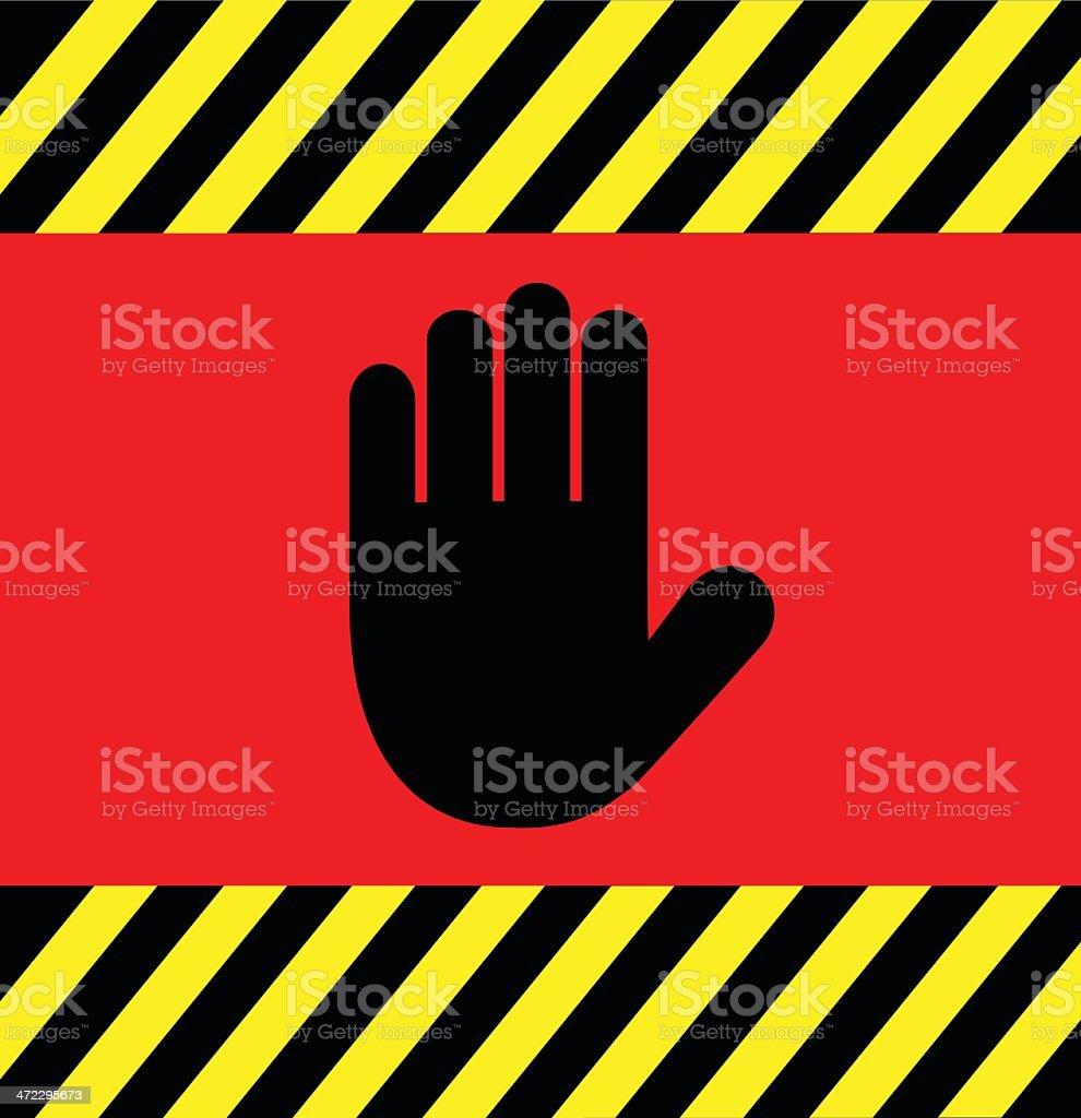 Hand Halt Background vector art illustration