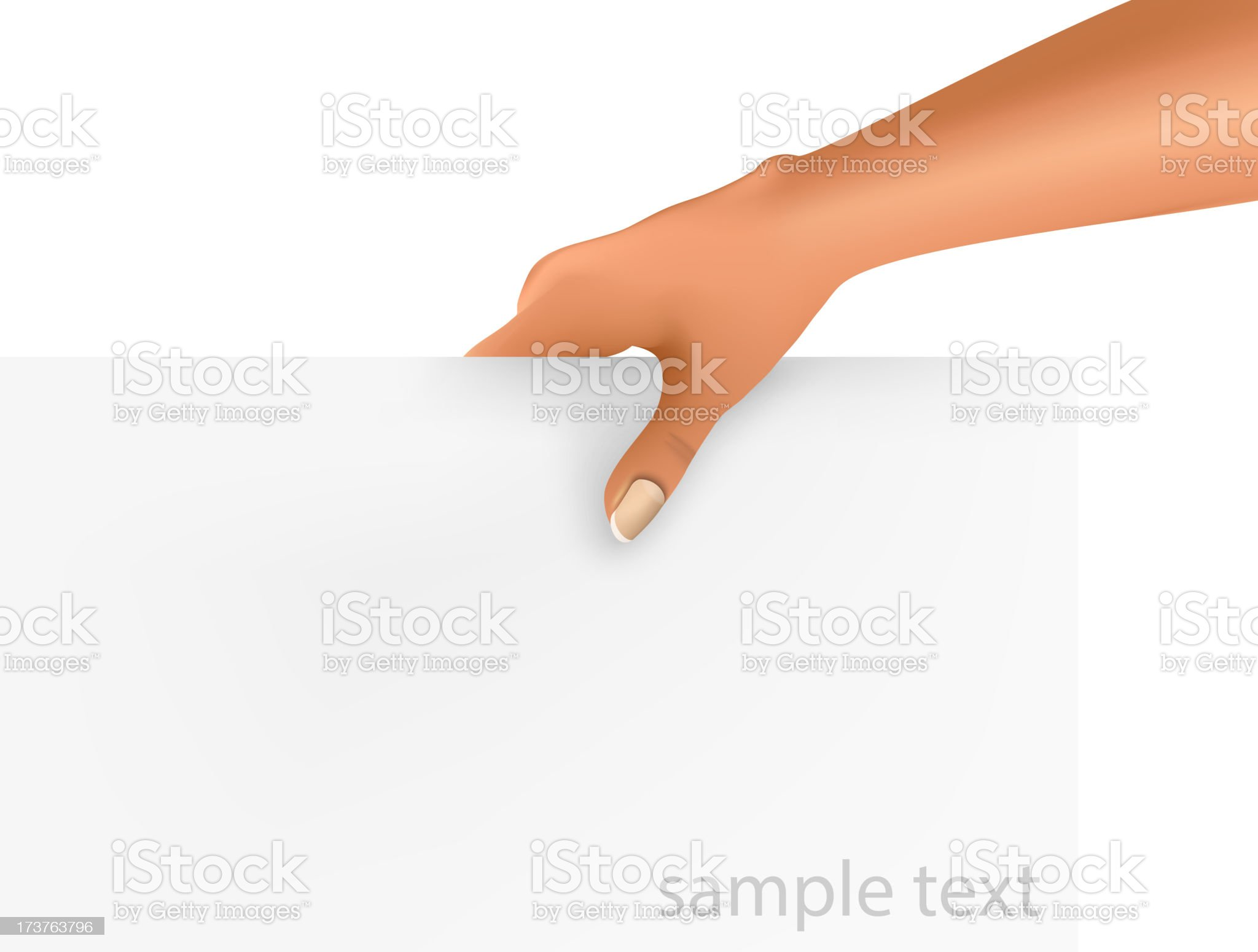hand holding a blank business royalty-free stock vector art