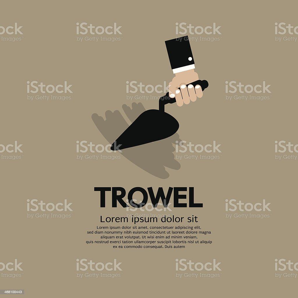 Hand Holding A Trowel vector art illustration
