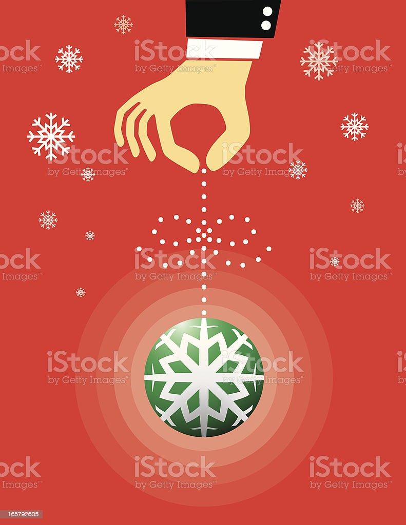 Hand holding Christmas ball royalty-free stock vector art